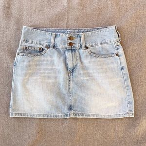 American Eagle Double Button Light Denim Skirt